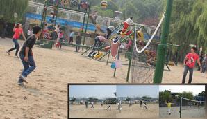 沙滩羽毛球